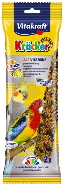 Vitakraft - Kraecker - крекер с мултивитамини, за средни папагали 2 бр.