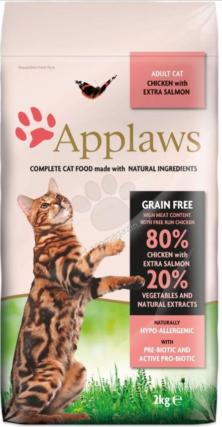 Applaws Adult Chicken with Extra Salmon - πλήρης τροφή για γάτες άνω των 12 μηνών 400 γρ