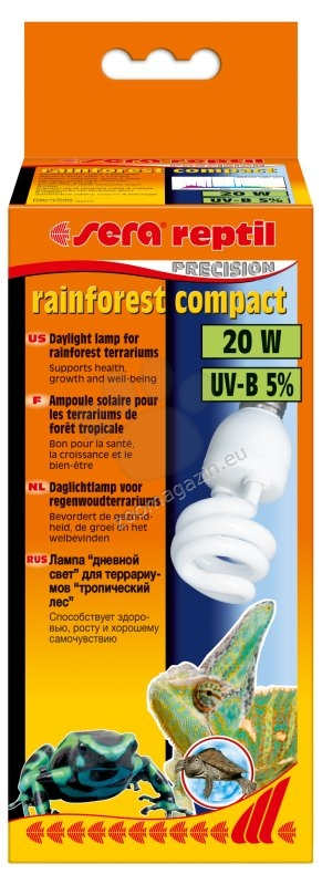Sera rainforest compact - 20W - 5 % UVB лъчи - компактна 1506074