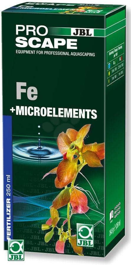 JBL ProScape Fe + Microelements - основна тор с желязо, калий, магнезий и пълните микроелементи, необходими за растенията 250 мл.