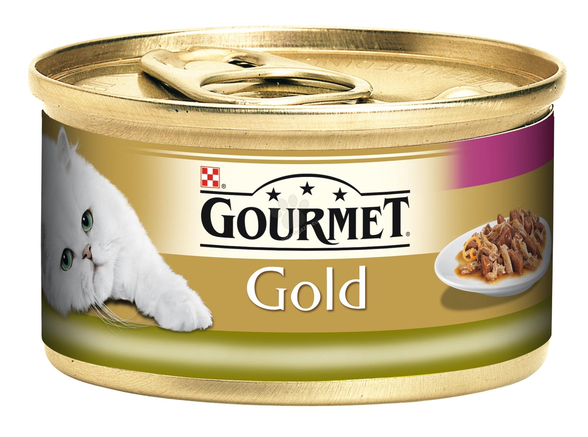 Gourmet Gold Double pleasure Rabbit Liver - двойно удоволствие заек и черен дроб - 24 x 85 гр / стек /