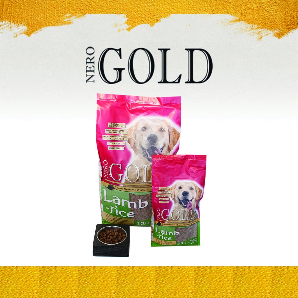 Nero Gold Lamb and Rice - пълноценна храна с агнешко месо и ориз, за кучета над 12 месечна възраст, подходяща за всички породи 12 кг.
