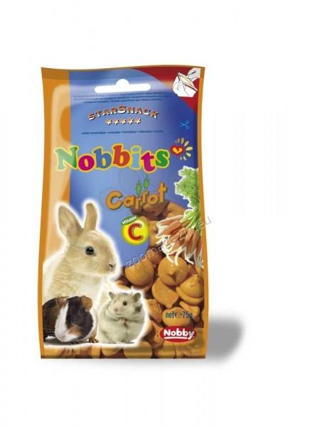 Nobby Nobbits Carrot - дропс с моркови за гризачи 75 гр.