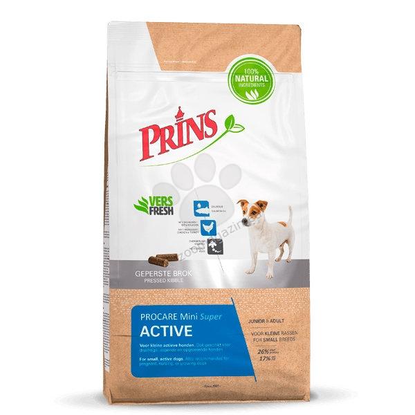 Prins ProCare Mini Super Active - за активни кучета от дребните породи, също така подходяща за кучета по време на бременността и кърменето 15 кг.