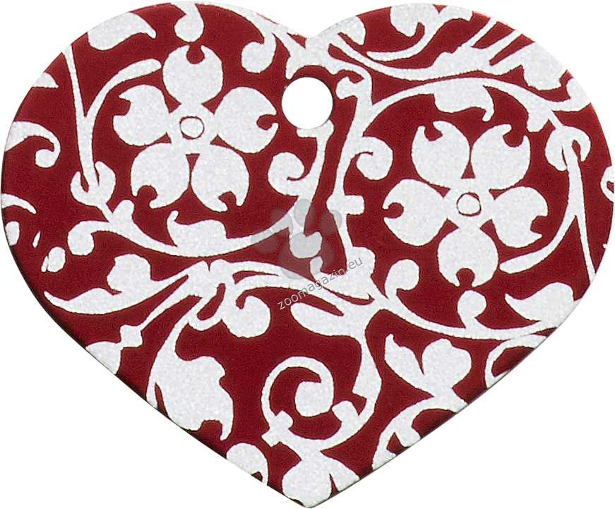 iMARC - Red Floral Ornate Heart