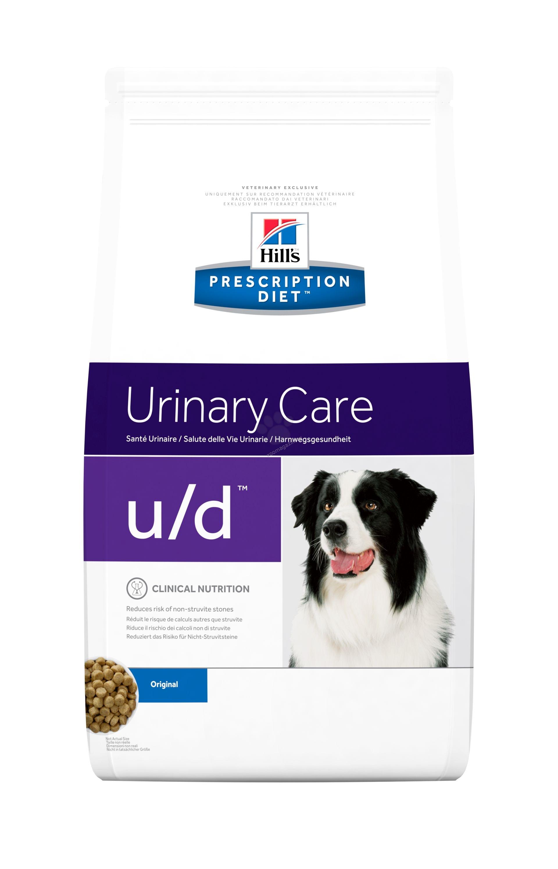 Hills Prescription Diet u/d - диета за кучета с цистинови и пуринови уролити 5 кг.