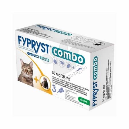 Fypryst Combo 50 mg. - за котки / 3 броя пипети /