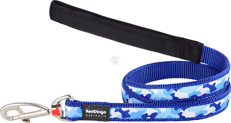 Red Dingo Camouflage Dark Blue S - повод, 15 мм х 120 см