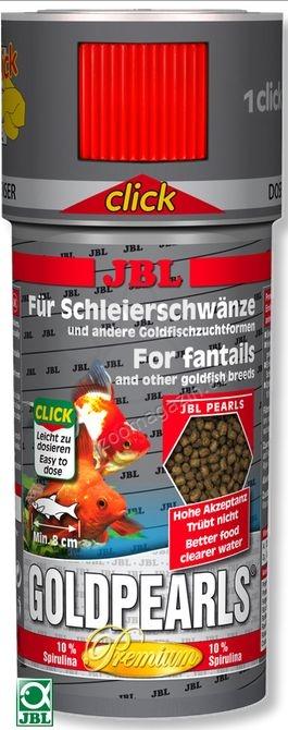 JBL Premium Gold Pearls Click - храна с дозатор, за златни рибки 250 мл.