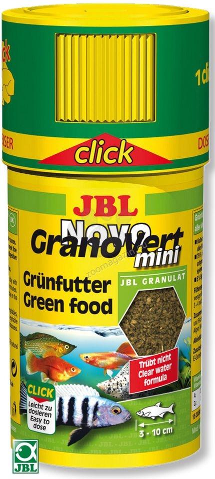 JBL NovoGranoVert mini CLICK - храна с дозатор, за малки растителноядни рибки 100 мл.
