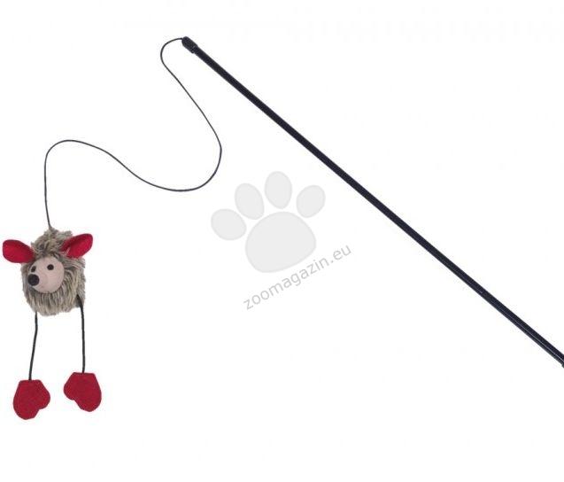 Nobby Teaser with plush mouse - играчка въдица с плюшена мишка със звук 50 см.