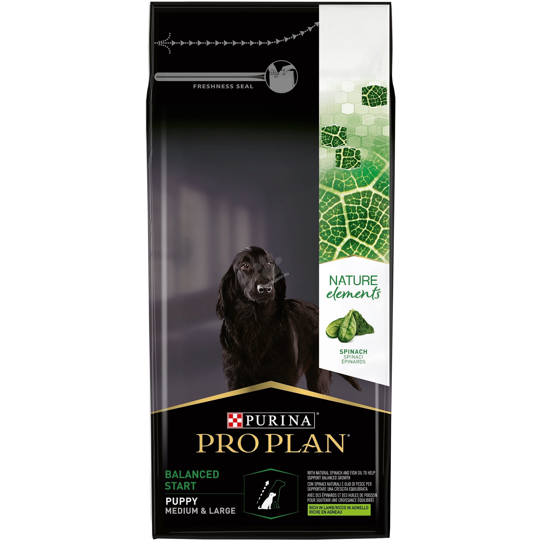 Pro Plan Nature Elements Medium / Large Puppy - с агнешко месо, за кучета от средни и едри породи до 12 месечна възраст 2 кг.