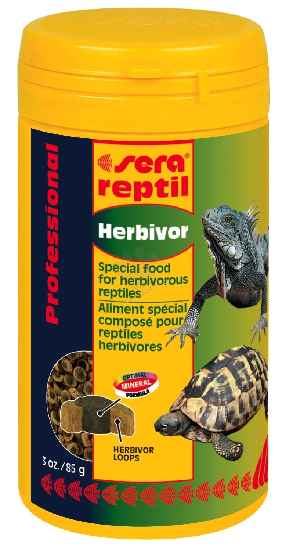 Sera - Professional Herbivor - ко-екструдирана храна за растителноядни влечуги - костенурки, игуани и др. 250 мл.