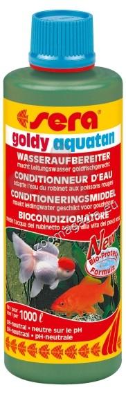 Sera - Goldy Aquatan - стабилизатор за вода кондиционира чешмяната вода според изискванията на златните рибки 100 мл.