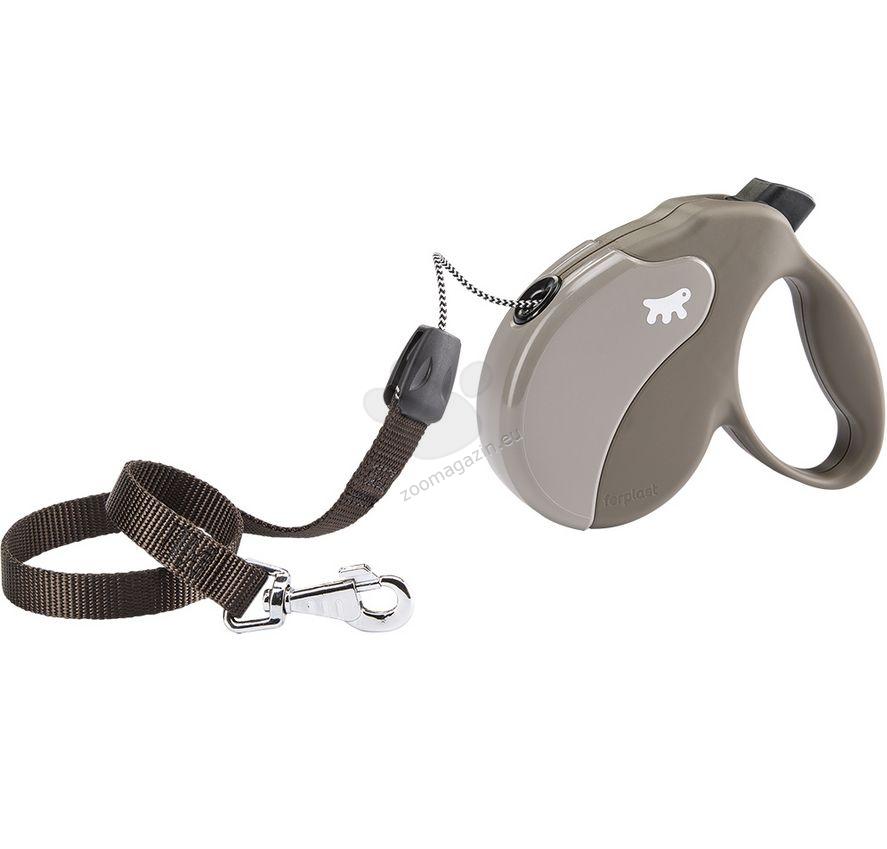 Ferplast - Amigo Cord S Dove Grey - 5 метра въже, за кучета с тегло до 15 кг.