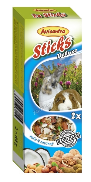 Avicentra Sticks deluxe with nuts & coconut for rabbits and guinea pigs - крекер с кокос и ядки 2 броя, 120 гр.