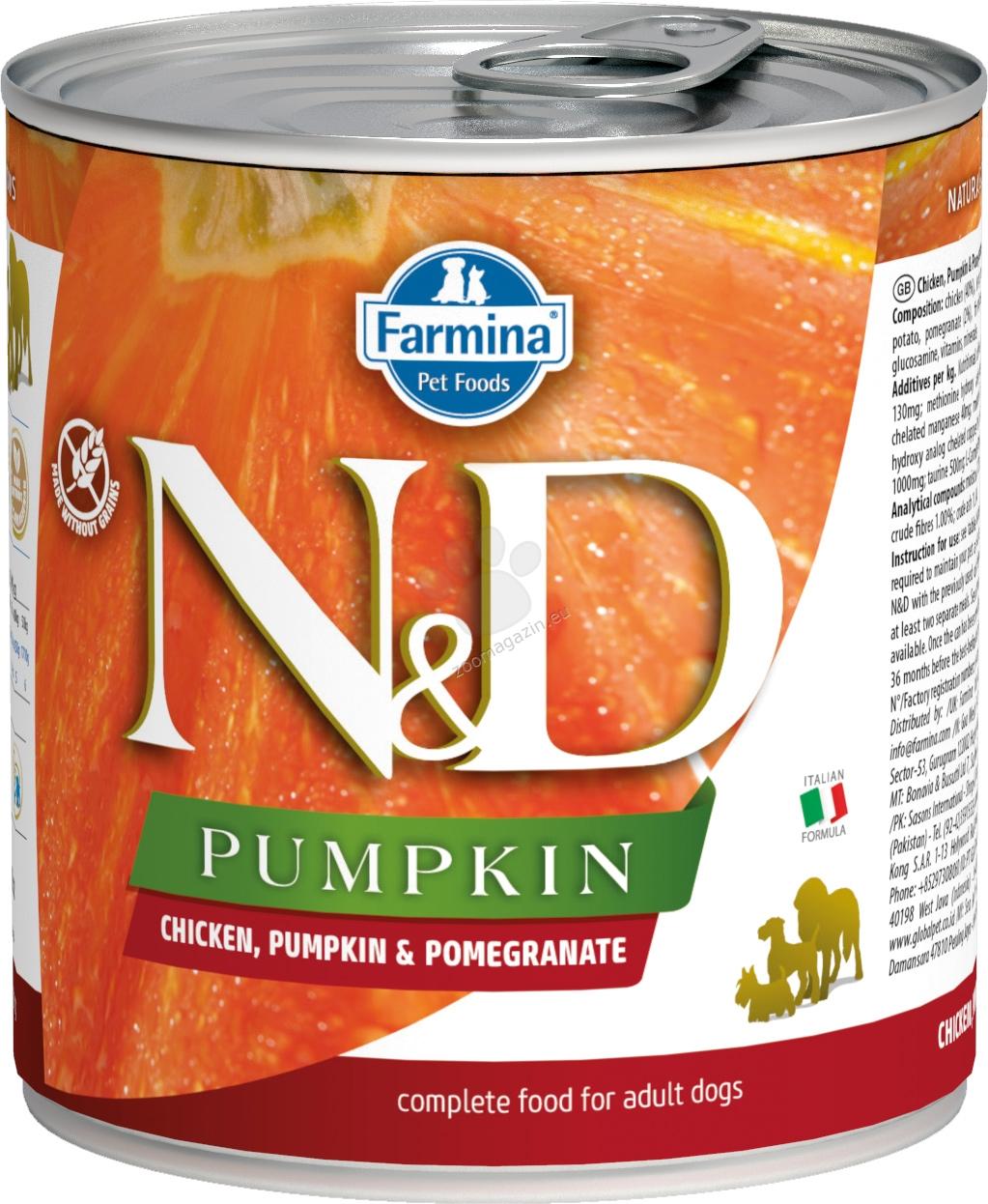N&D Dog Chicken & Pupkin & Pomegrante - с пилешко месо, тиква и нар 285 гр.