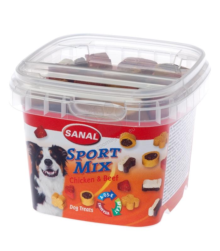 Sanal Dog Sport Mix - деликатесно лакомство с пилешко и говеждо 100 гр.