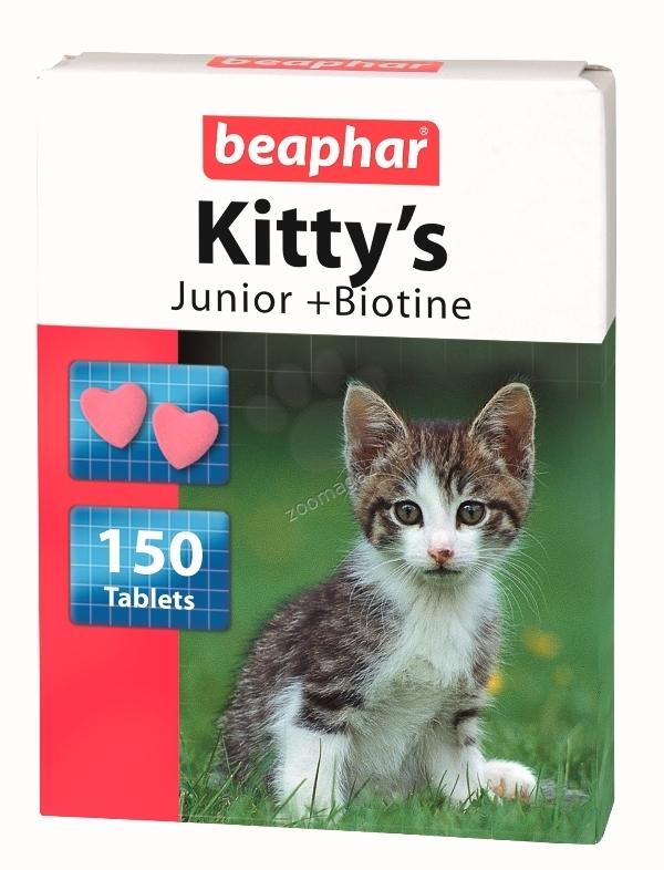 Beaphar Kittys Junior  - витаминно лакомство за котки от 1 до 12 месеца  150 таблетки