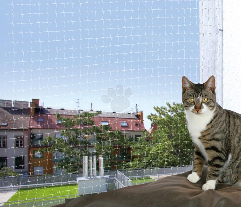 Trixie Protective net, transparent - Δίκτυο βεράντα, 4 × 3 m. / βαμβάκι και μαλλί /