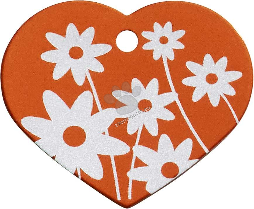 iMARC - Orange Daisy Flower Heart