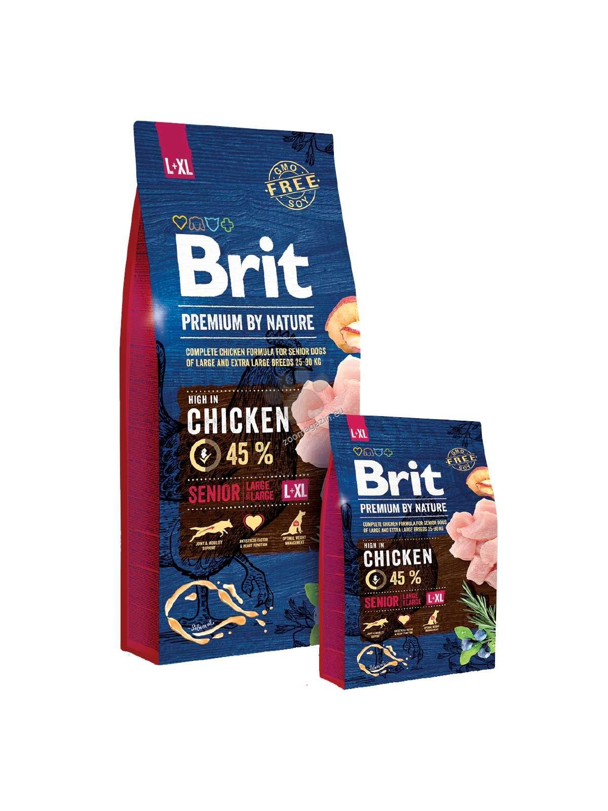 Brit Premium by Nature Senior L+XL - пълноценна храна за кучета големи и гигантски породи / над 25 кг. / и възраст над 7 години 15 кг.