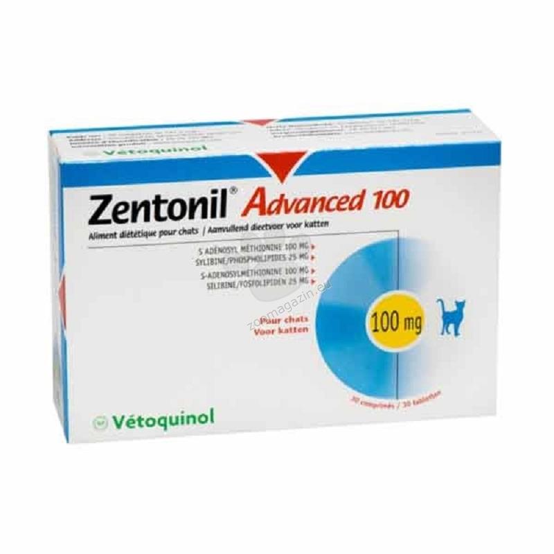 Vetoquinol - Zentonil Advance 100 - при тежки чернодробни проблеми 10 таблетки