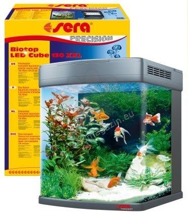 Sera - Marin Precision Biotop LED Cube 130 - морски аквариум с пълно оборудване 51 / 62,6 / 58 cм 130 литра