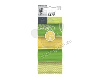 M-Pets Dog Waste Bags Lemon - 4 Rolls - ароматизирани пликчета / лимон / 4 ролки по 15 броя