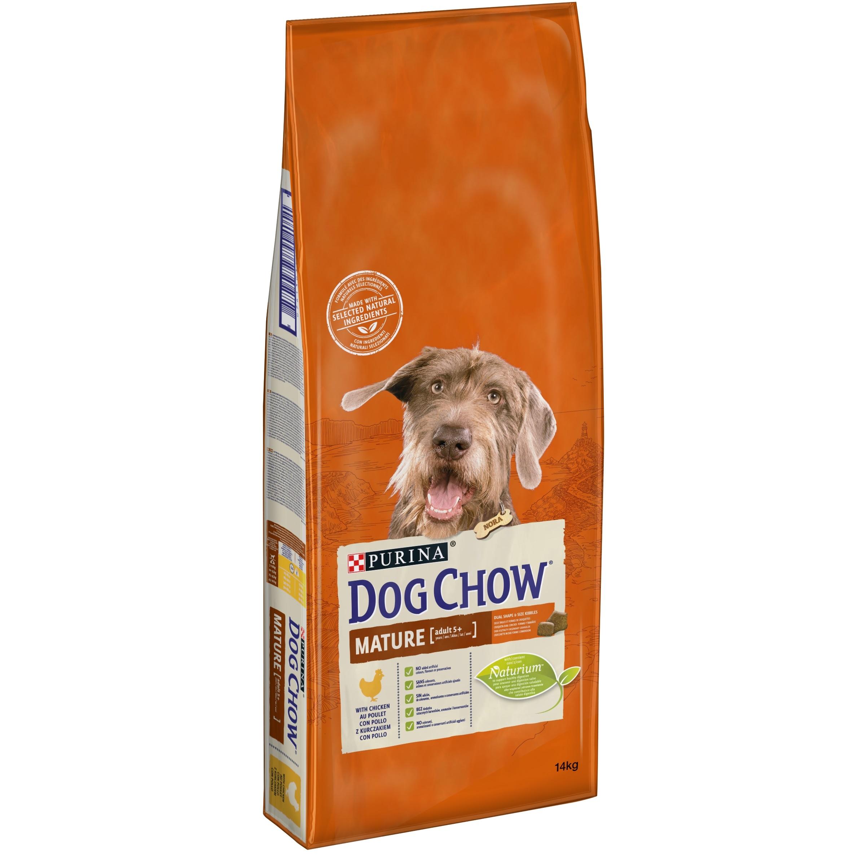 Dog Chow Mature - пълноценна храна с пилешко месо, за кучета над пет годишна възраст 14 кг.