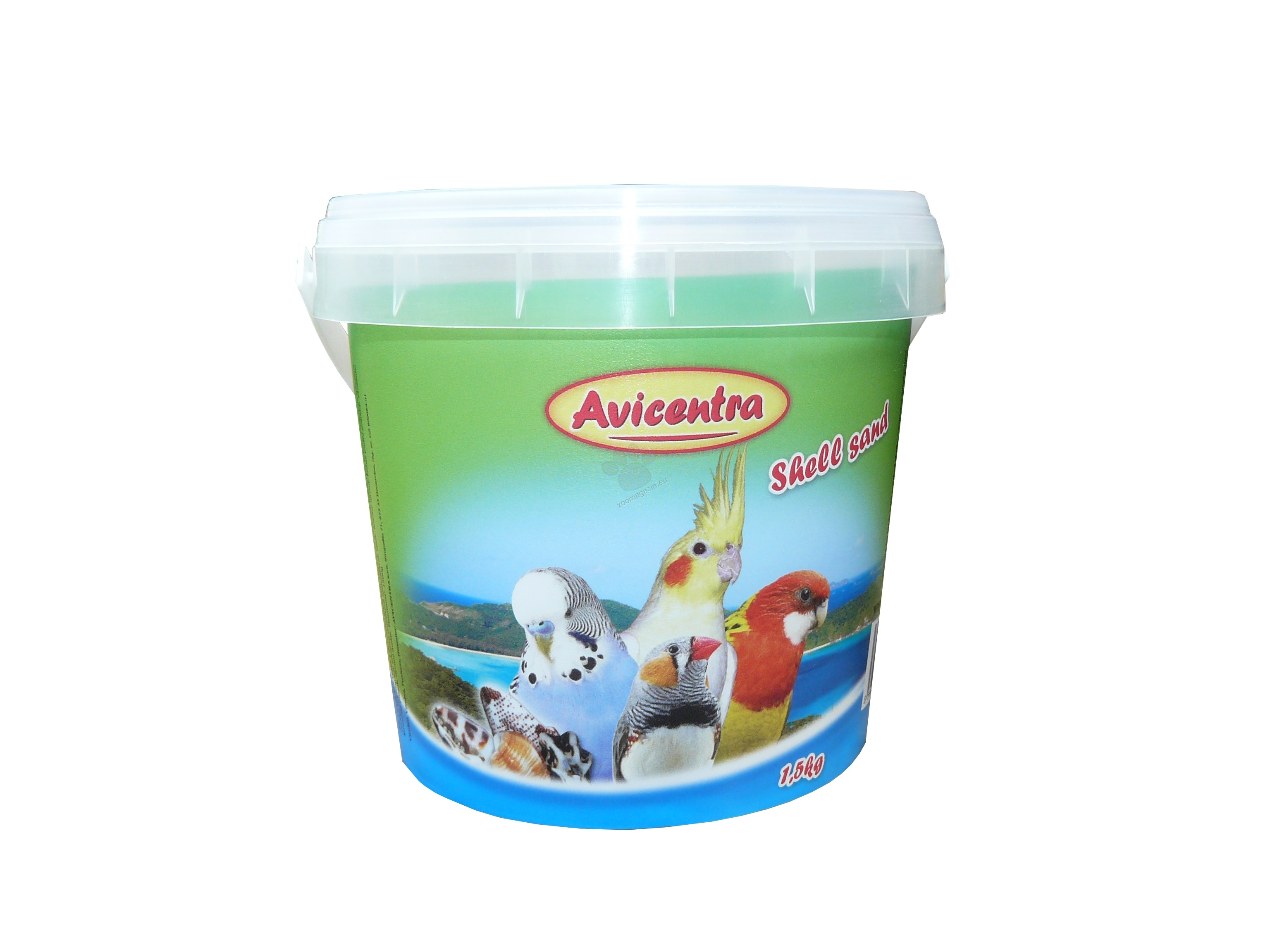 Avicentra Shell sand for parrots and parakeets - пясък с миди 1.5 кг.