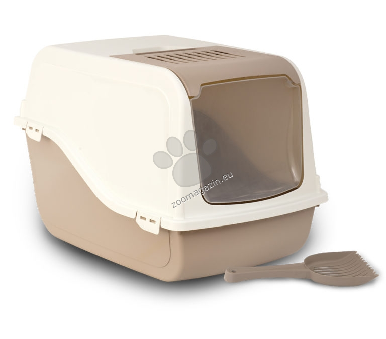M.P.Bergamo Ariel Top Free - закрита котешка тоалетна с лопатка / бежовa, синя, зелена, розова / 57 / 39 / 38 см