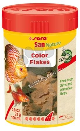 Sera Nature San - основна оцветяваща храна без оцветители и консерванти 100 мл.