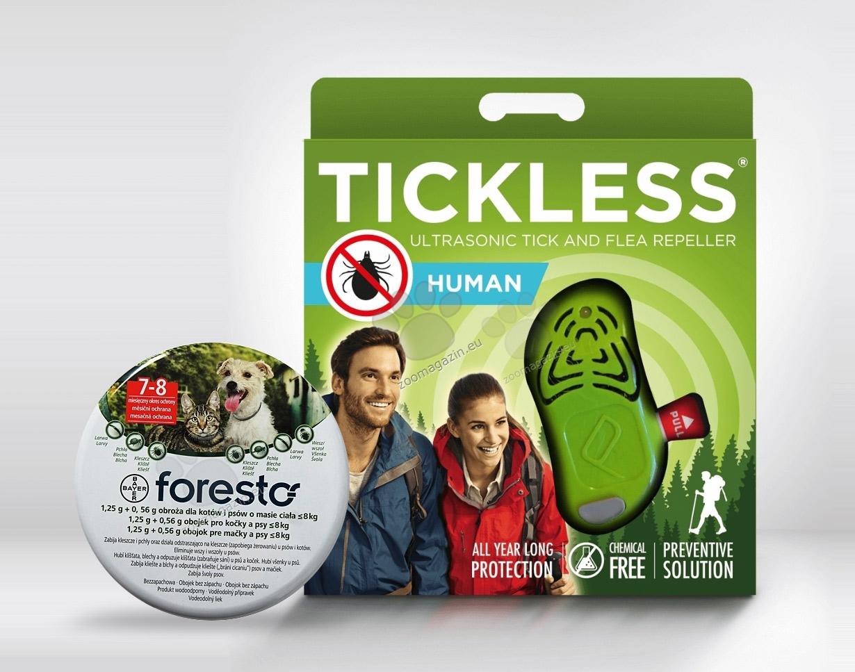 Tickless Human за теб и Foresto 38 см. за твоя Нечовек на топ цена