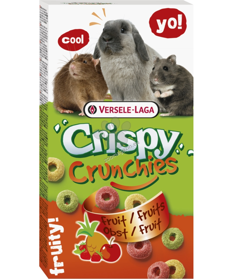 Versele Laga - Crispy Crunchies Fruit - деликатесно лакомство с плодове 75 гр.