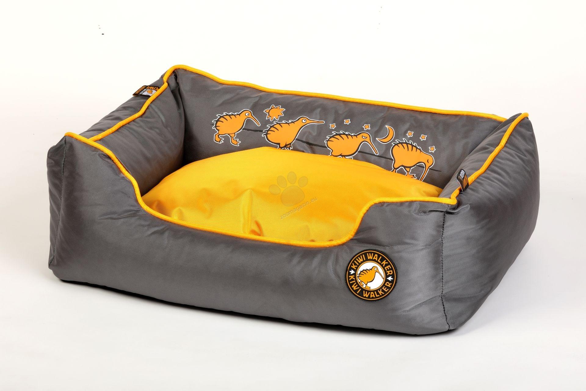 Kiwi Walker Bed Running XL - ортопедично легло с мемори пяна 95 / 65 / 26 см. / розов, оранжев, зелен /