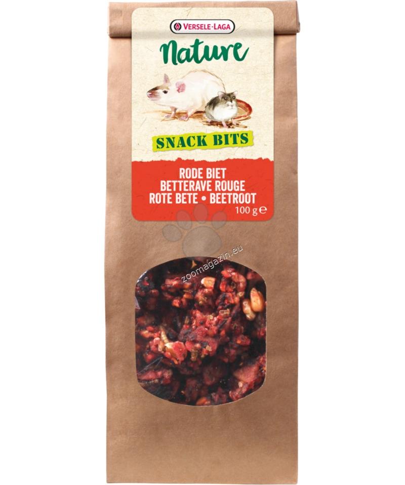 Versele Laga - Nature Snack Bits Beetroot - протеинови топки, за гризане с цвекло и банани 100 гр.