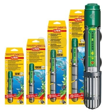 Sera - регулируем нагревател за сладко и соленоводни аквариуми 150 W
