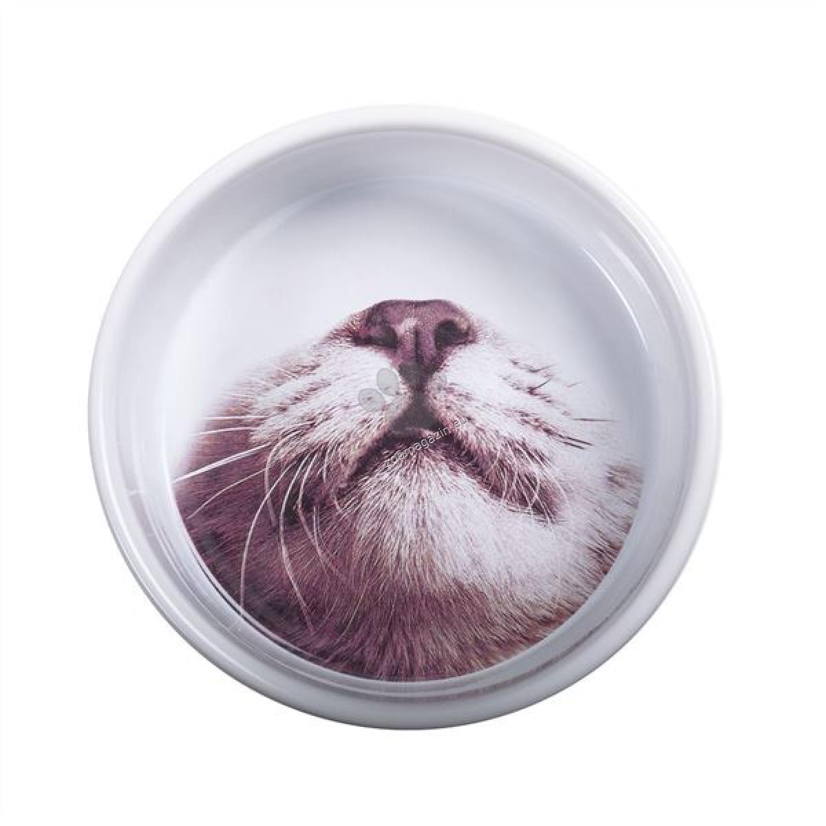 Pet Brands MOP Ceramic Cat Feeding Bowl - керамична купа котешка муцунка 12 / 5 см.