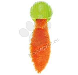 M-Pets Foxball - топка с опашка 25 / 7 см. / зелена, оранжева /