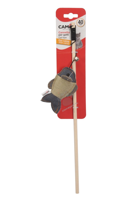 Camon Cat toy with catnip - Fishing rod with fish - котешка играчка 40 см.