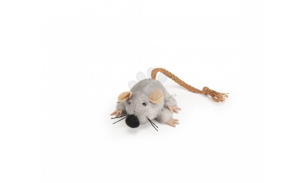 Camon Plush mouse with rope tail - плюшена мишка 7 см.