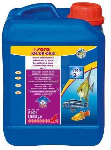 Sera - KH/pH plus - за безопасно повишаване на карбонатната твърдост (kH) и pH на водата  5000 мл.
