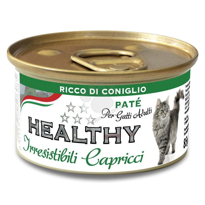 Healty Irresistibili Capricci Pate Rich in Rabbit - със заешко месо 85 гр.
