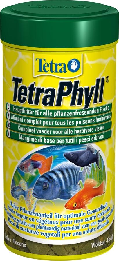 Tetra - TetraPhyll - универсална храна за всички видове тревопасни тропически риби 100 мл.