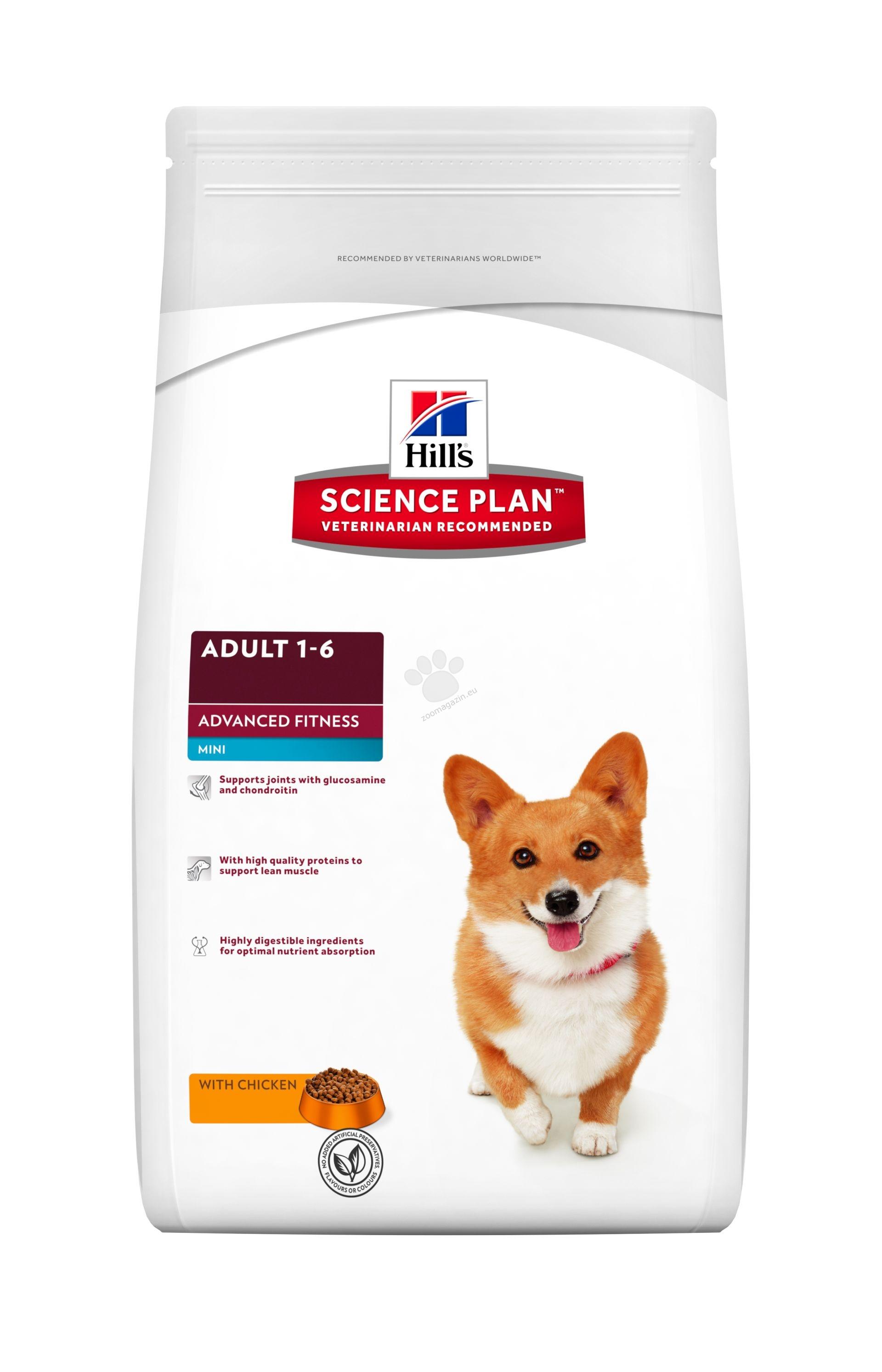 Science Plan Canine Adult Advanced Fitness Mini with Chicken - Кучета от дребни породи с умерени енергийни нужди на възраст от 1 до 7 години 2.5 кг.