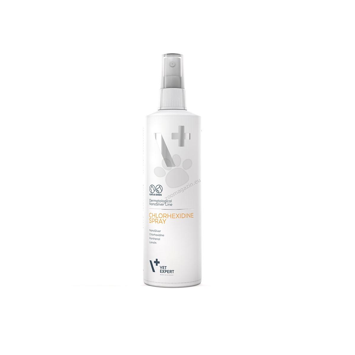 Vetexpert - Dermatological NanoSilver Line - Chlorhexidine - Hot Spot - за локална употреба при кучета и котки с кожни лезии 100 мл.