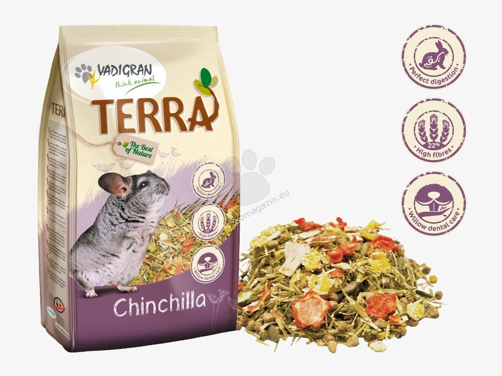 Vadigran - Terra Chinchilla Super Premium - пълноценна храна за чинчили 1 кг.