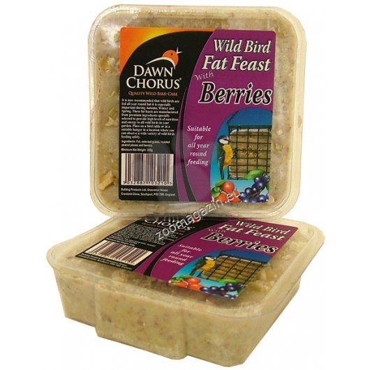 Pet Brands Dawn chorus fat feast berry - Високоенергиен блок за диви птици от семена с горски плодове