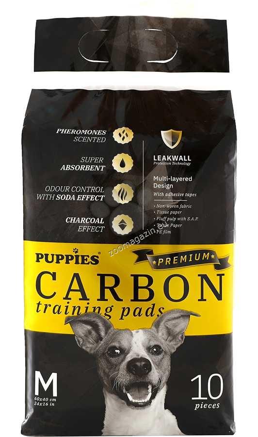 Puppies Carbon - хигиенна подложка с активен въглен 60 / 40 см., 10 броя